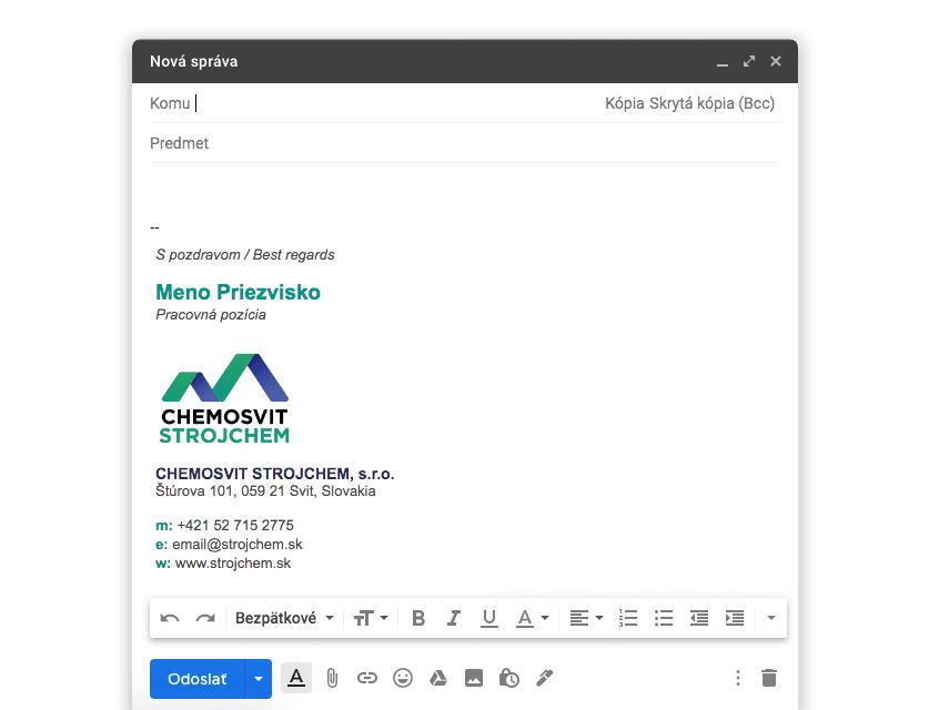 YNK media - Prípadové štúdie - Chemosvit - Email