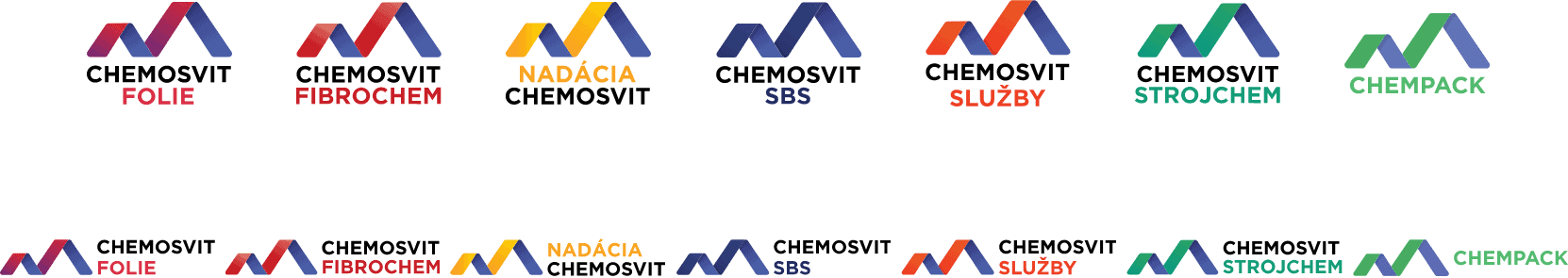 YNK media - Prípadové štúdie - Chemosvit - Logá