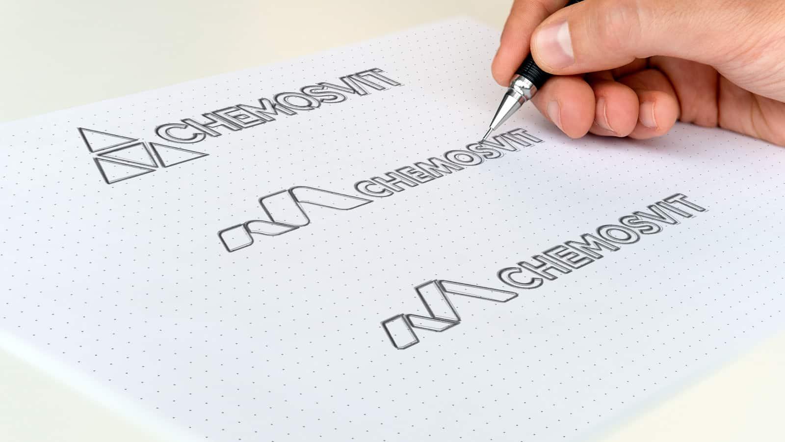 YNK media - Prípadové štúdie - Chemosvit - Logo sketches